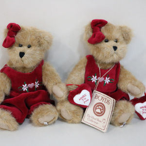 Boyds Bears - Hugs to you / 2 Mini Teddy Bears